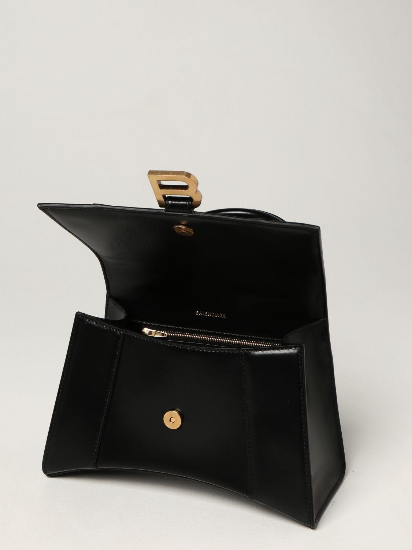 Borsa a mano Balenciaga: Borsa Hourglass top handle Balenciaga in pelle liscia nero 5