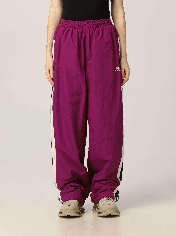 Balenciaga Wardrobe Purple Tracksuit Trousers In Violet