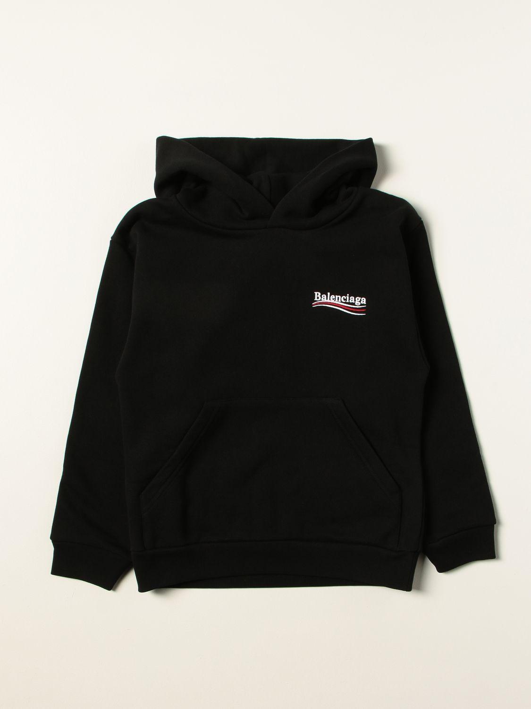 Maglia Balenciaga: Felpa Balenciaga in cotone con logo nero 1