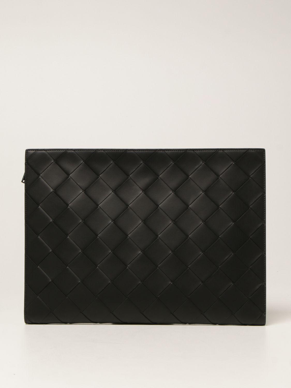Briefcase Bottega Veneta: Bottega Veneta document holder in 3.0 woven leather black 1