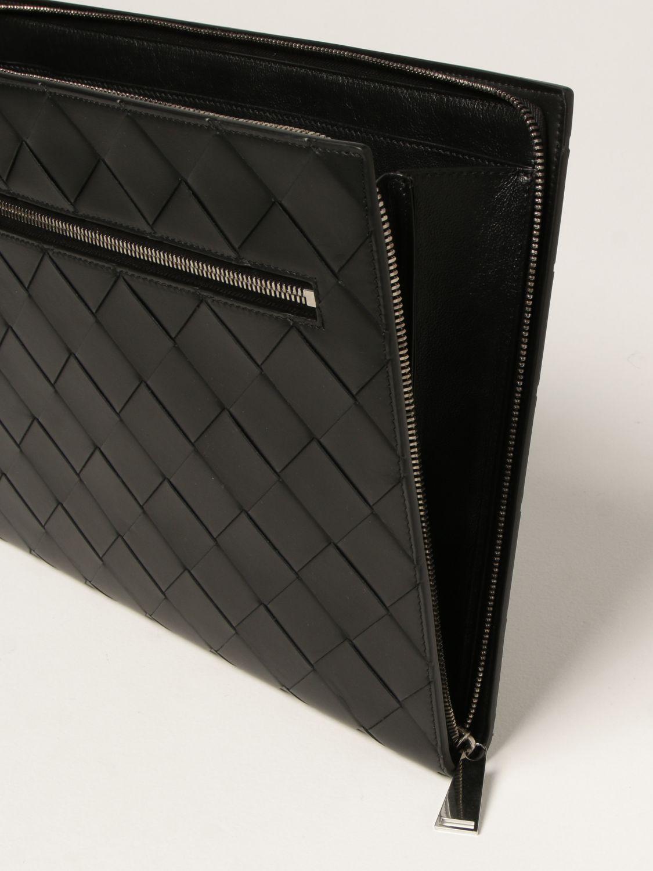 Briefcase Bottega Veneta: Bottega Veneta document holder in 3.0 woven leather black 3