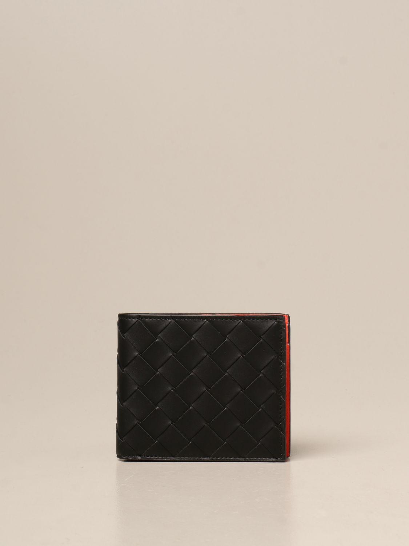 Portafoglio Bottega Veneta: Portafoglio Bottega Veneta in pelle intrecciata 1.5 nero 1