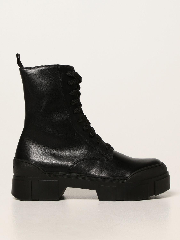 Flache Stiefeletten Vic Matiè: Schuhe damen Vic MatiÈ schwarz 1