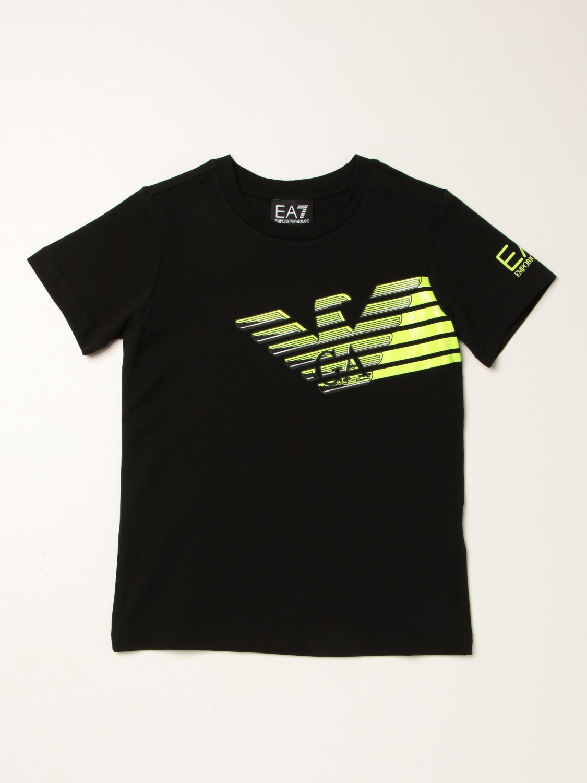 T-shirt Ea7: T-shirt Manuel Ritz in cotone con logo nero 1