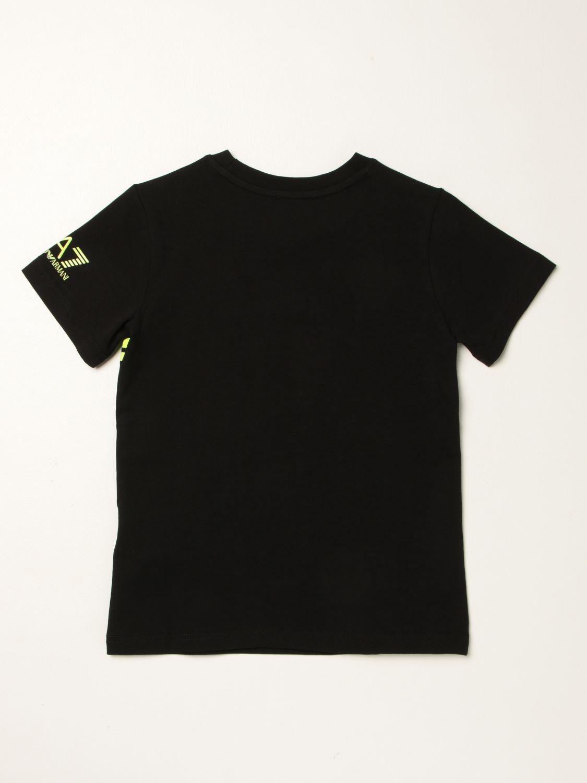 T-shirt Ea7: T-shirt Manuel Ritz in cotone con logo nero 2