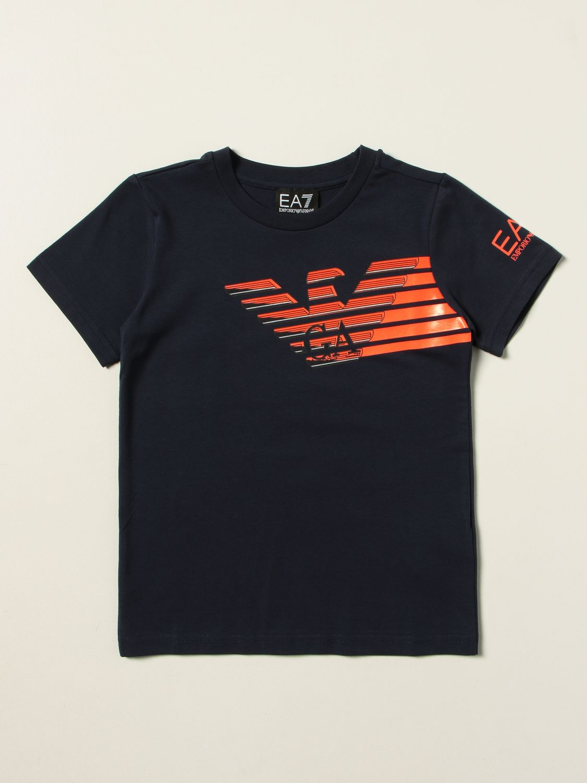 T-shirt Ea7: T-shirt Manuel Ritz in cotone con logo blue 1