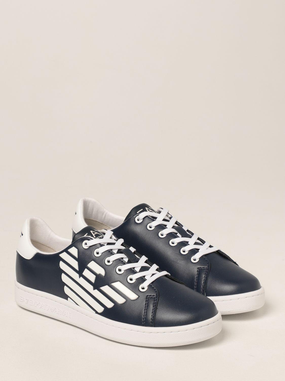 Scarpe Ea7: Sneakers EA7 in pelle con logo bianco 2