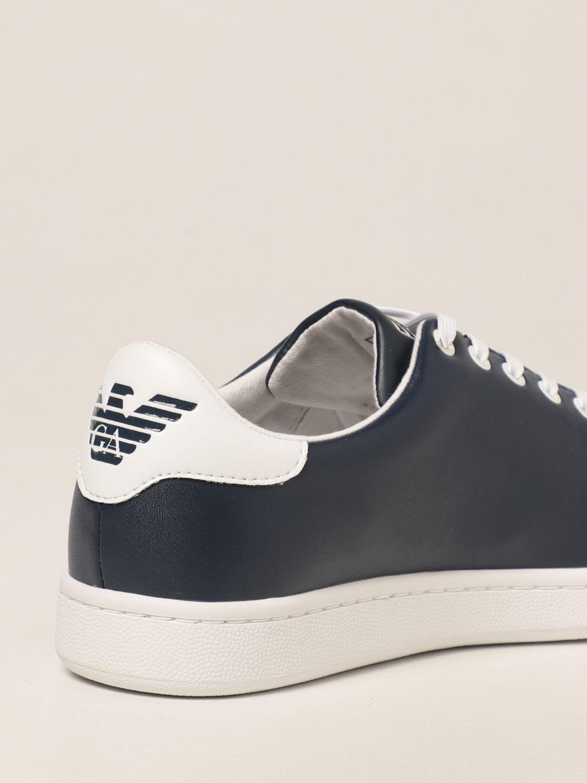 Scarpe Ea7: Sneakers EA7 in pelle con logo bianco 3