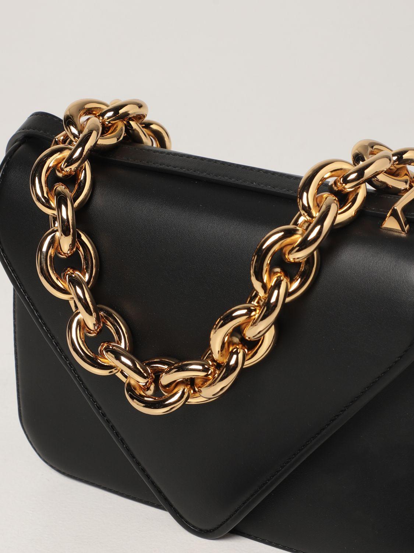 Borsa a spalla Bottega Veneta: Borsa Mount Bottega Veneta in pelle con dettaglio chain nero 4
