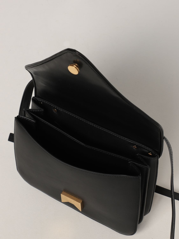 Borsa a spalla Bottega Veneta: Borsa Mount Bottega Veneta in pelle con dettaglio chain nero 5