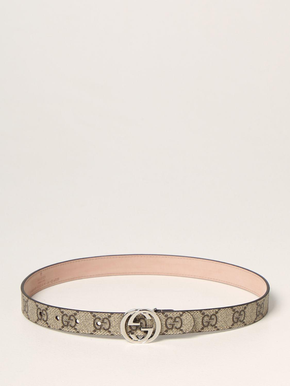 Cintura Gucci: Cintura Gucci in tessuto GG Supreme beige 1