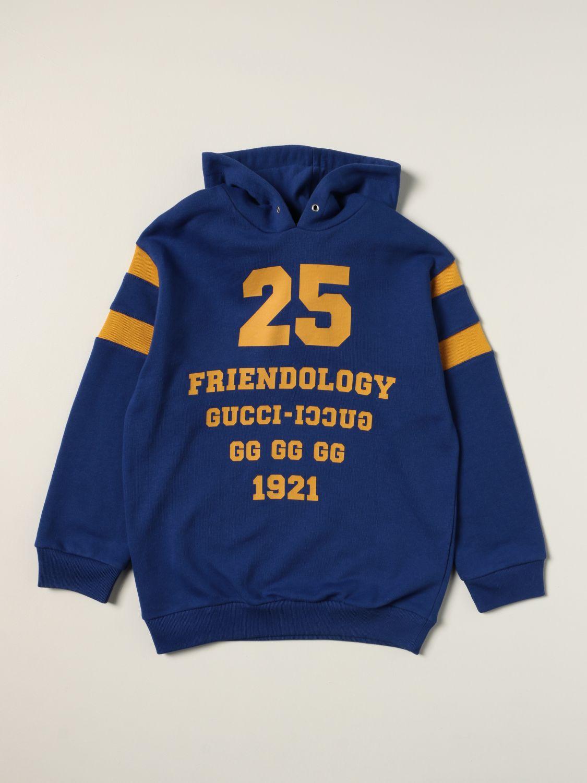Maglia Gucci: Felpa 1921 Friendology Gucci in cotone con logo zaffiro 1