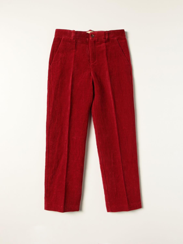 Pantalone Gucci: Pantalone Gucci in cotone a coste rosso 1