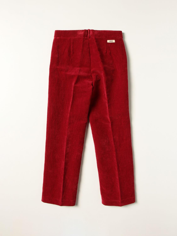Pantalone Gucci: Pantalone Gucci in cotone a coste rosso 2