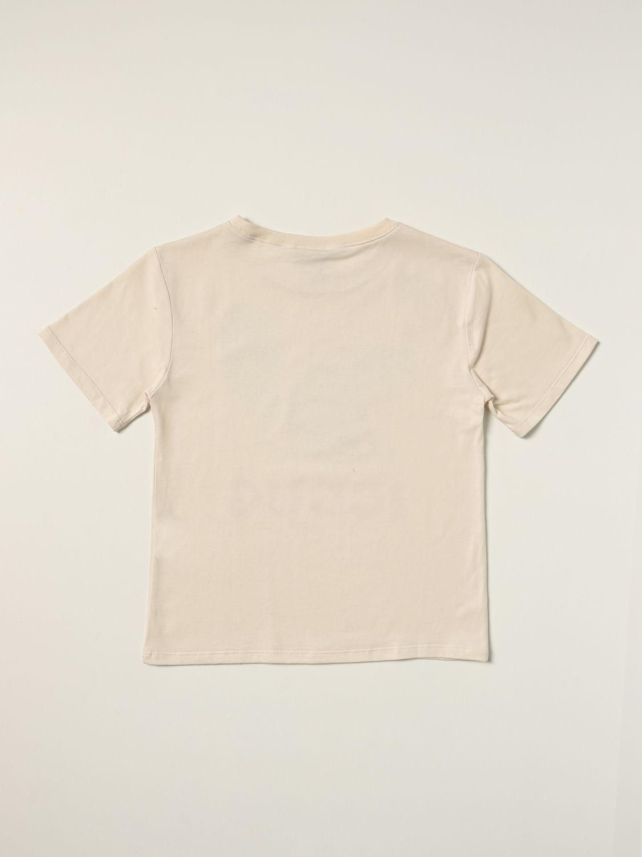 T-shirt Gucci: T-shirt Gucci in cotone con stampa illustrazione bianco 2