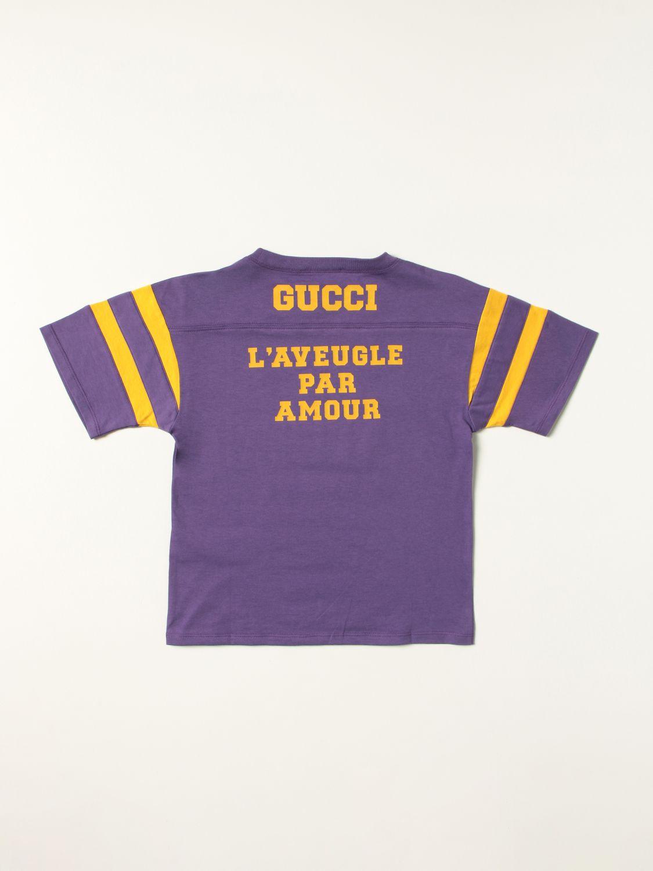 T-shirt Gucci: T-shirt To Hug a Snake 1921 Gucci in cotone viola 2