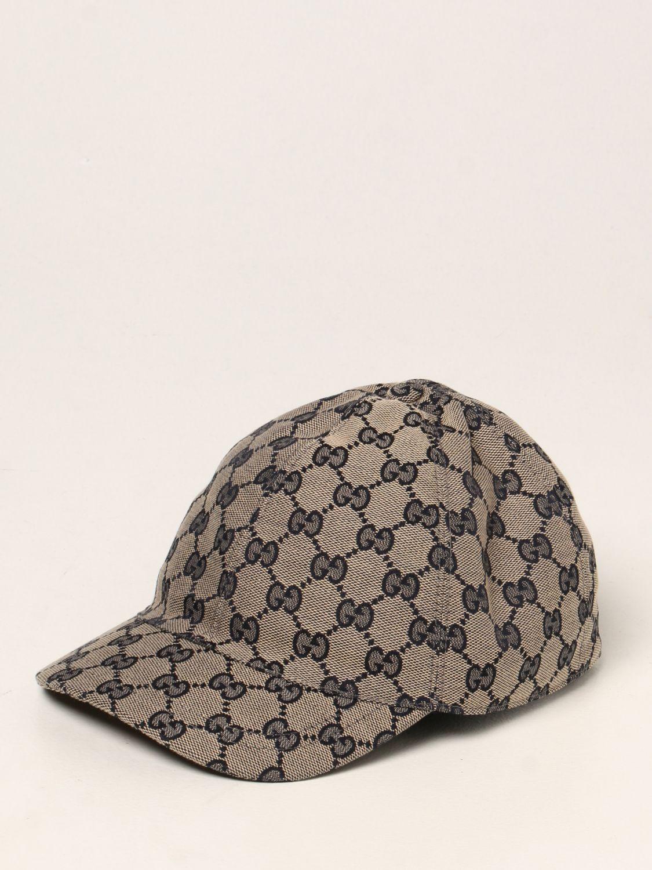 Cappello bambino Gucci: Cappello da baseball Gucci con motivo GG Supreme blue 1