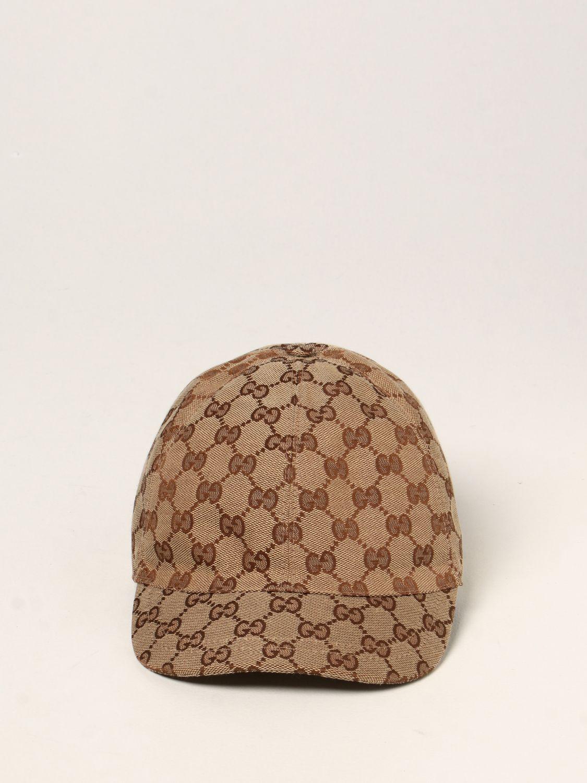 Hat Gucci: Gucci baseball hat with GG Supreme motif beige 2