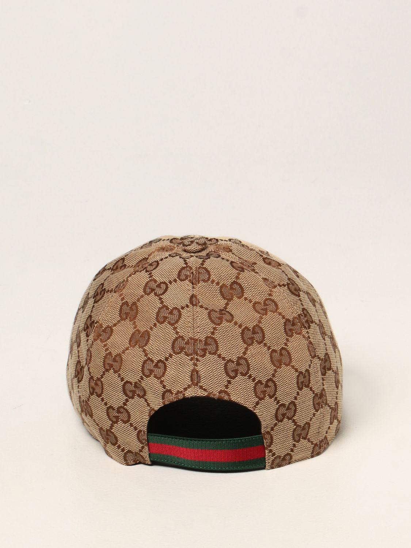 Hat Gucci: Gucci baseball hat with GG Supreme motif beige 3