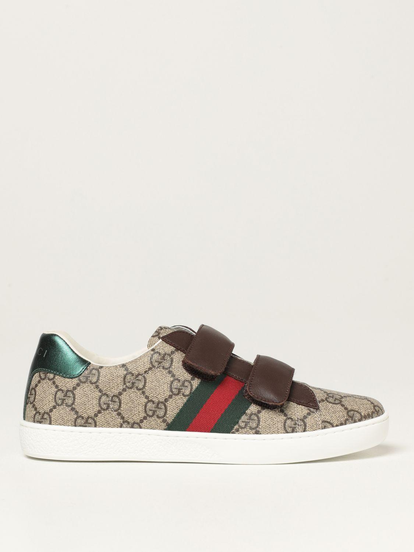Scarpe Gucci: Sneakers Ace Gucci in tessutto GG Supreme beige 1
