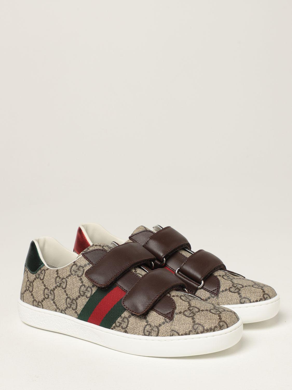 Scarpe Gucci: Sneakers Ace Gucci in tessutto GG Supreme beige 2
