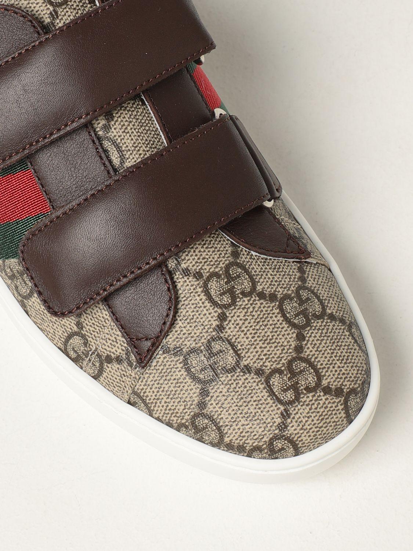 Scarpe Gucci: Sneakers Ace Gucci in tessutto GG Supreme beige 4