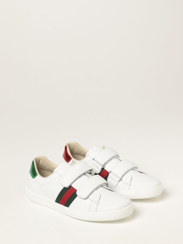 Scarpe Gucci: Sneakers Ace Gucci in pelle bianco 2