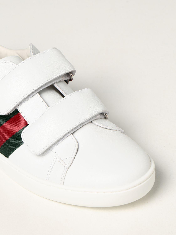 Scarpe Gucci: Sneakers Gucci in pelle bianco 4