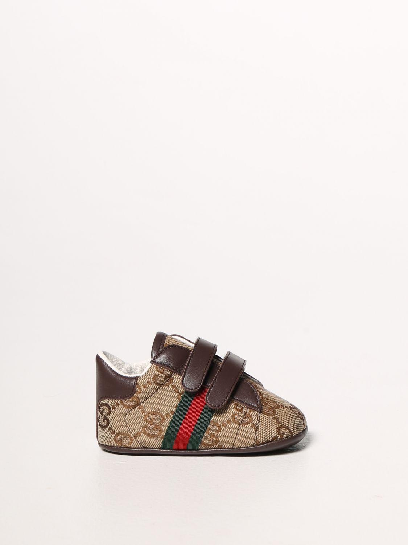 Scarpe Gucci: Sneakers Ace Gucci in tessuto Original GG con fasce Web marrone 1