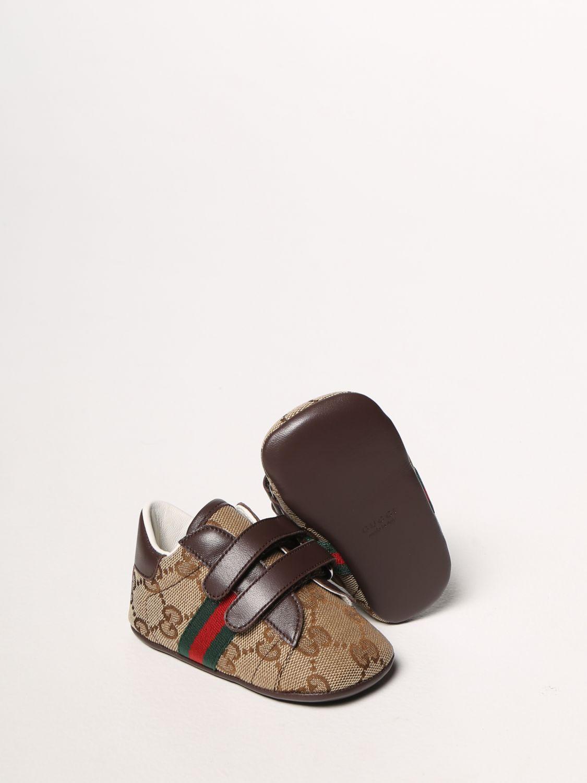 Scarpe Gucci: Sneakers Ace Gucci in tessuto Original GG con fasce Web marrone 2