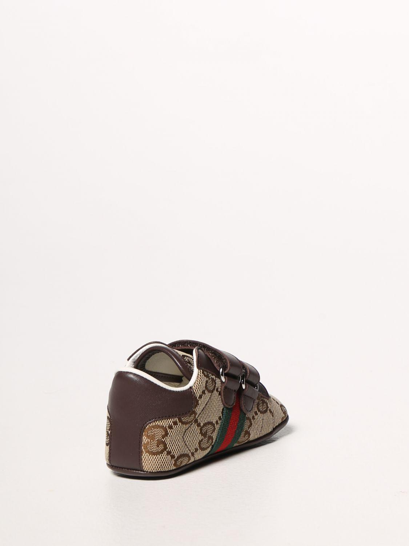 Scarpe Gucci: Sneakers Ace Gucci in tessuto Original GG con fasce Web marrone 3