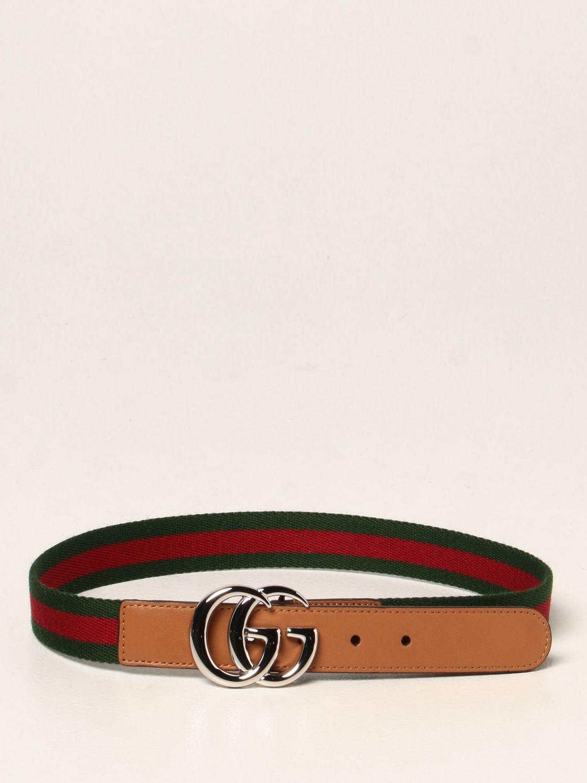 Cintura Gucci: Cintura Gucci in pelle con nastro Web verde 1