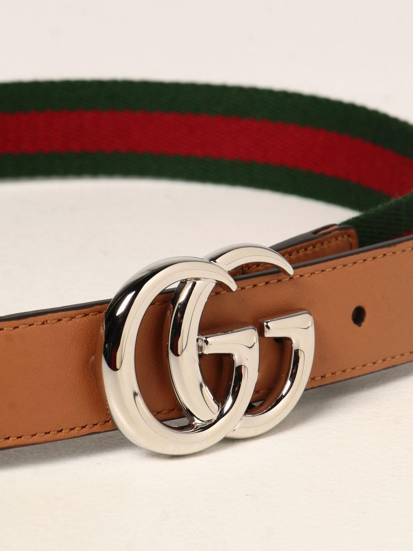 Cintura Gucci: Cintura Gucci in pelle con nastro Web verde 2