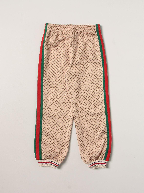 Pantalone Gucci: Jogging con banda beige 1