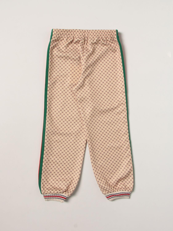 Pantalone Gucci: Jogging con banda beige 2