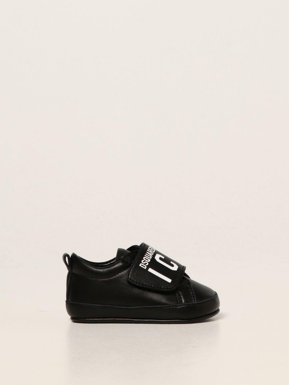 Shoes Dsquared2 Junior: Dsquared2 Junior leather trainers black 1