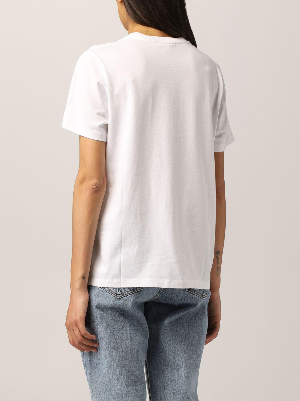 T-Shirt Ganni: Ganni cotton T-shirt with smile print white 3