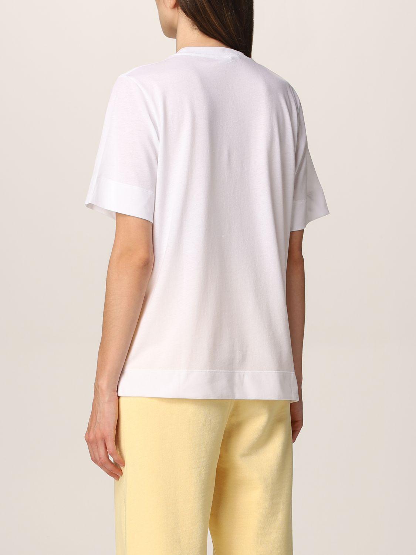 T-Shirt Ganni: Ganni Software T-shirt in recycled EcoLife® yarn white 3