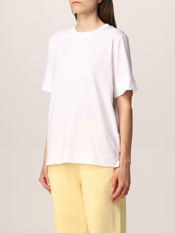 T-Shirt Ganni: Ganni Software T-shirt in recycled EcoLife® yarn white 4