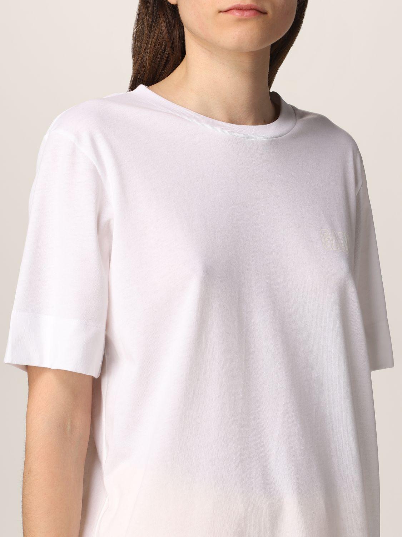 T-Shirt Ganni: Ganni Software T-shirt in recycled EcoLife® yarn white 5
