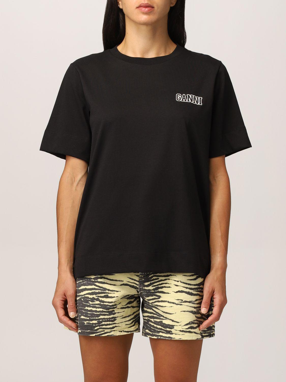 T-shirt Ganni: T-shirt Ganni Software in filato EcoLife® riciclato nero 1