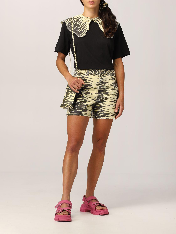 T-shirt Ganni: T-shirt Ganni Software in filato EcoLife® riciclato nero 2