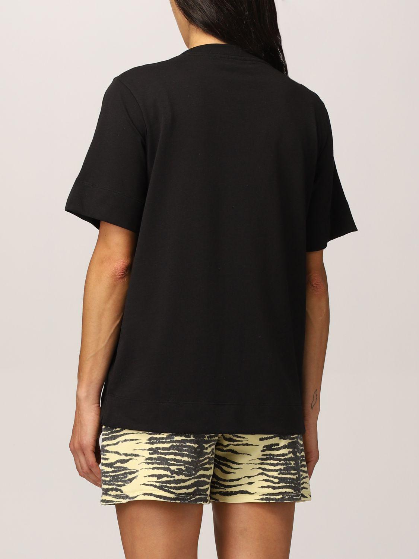 T-shirt Ganni: T-shirt Ganni Software in filato EcoLife® riciclato nero 3