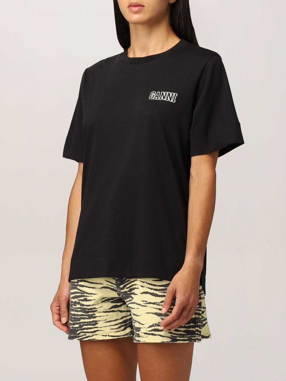 T-shirt Ganni: T-shirt Ganni Software in filato EcoLife® riciclato nero 4