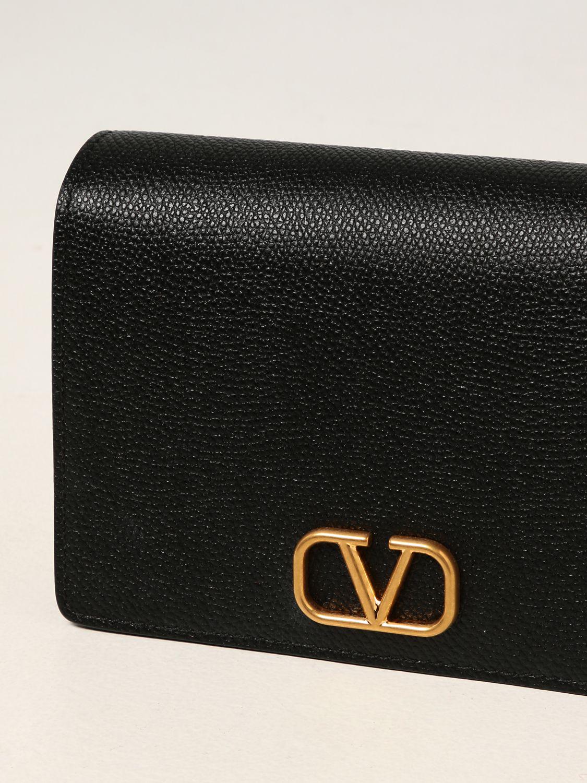 Borsa mini Valentino Garavani: Borsa a tracolla Valentino Garavani in pelle a grana nero 4