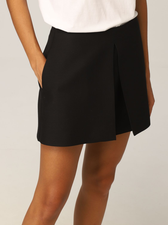 Pantaloncino Valentino: Pantaloncini Valentino in lana e seta con piegone nero 5