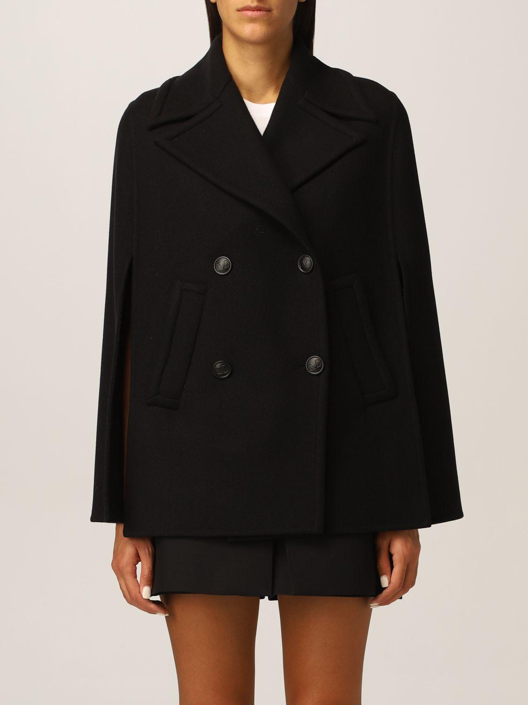 Mantella Valentino: Cappa Valentino in misto lana nero 1