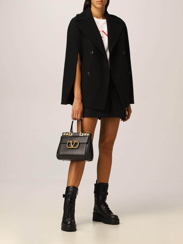 Mantella Valentino: Cappa Valentino in misto lana nero 2