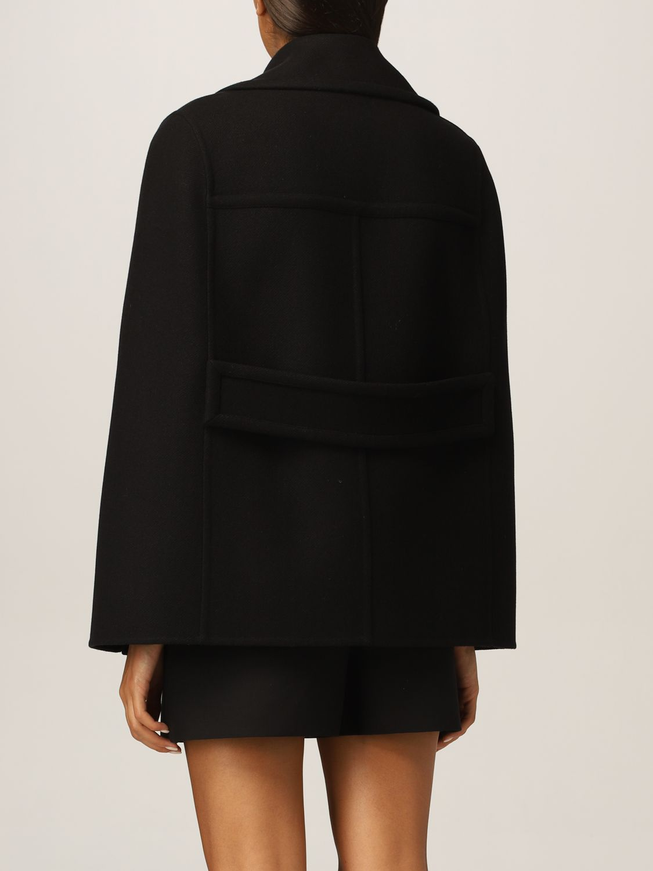 Mantella Valentino: Cappa Valentino in misto lana nero 3