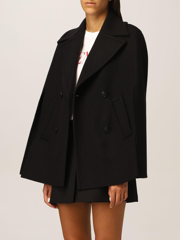Mantella Valentino: Cappa Valentino in misto lana nero 4